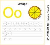 writing a z  alphabet ... | Shutterstock .eps vector #613776191