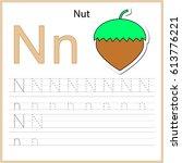 writing a z  alphabet ... | Shutterstock .eps vector #613776221