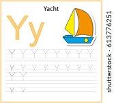 writing a z  alphabet ... | Shutterstock .eps vector #613776251