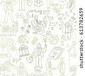 business people doodle. hand... | Shutterstock .eps vector #613782659