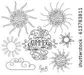 vector set of different swirl...   Shutterstock .eps vector #613783811