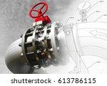 industrial zone  steel... | Shutterstock . vector #613786115
