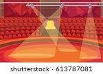 circus arena. vector... | Shutterstock .eps vector #613787081