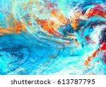 Blue Sea Wave. Artistic...