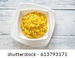 risotto alla milanese   Shutterstock . vector #613793171