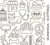 line style black and white...   Shutterstock .eps vector #613793621