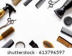 Tools For Hair Styling On Whit...