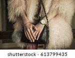 elegant outfit. close up of... | Shutterstock . vector #613799435