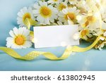 Bouquet Of Daises With Tag For...