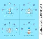 client support. teamwork.... | Shutterstock .eps vector #613805651