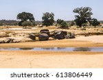 Dried Out River Bed Of The...