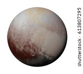 dwarf planet pluto isolated on... | Shutterstock . vector #613807295