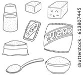 vector set of sugar | Shutterstock .eps vector #613807445