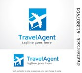 travel agent logo template... | Shutterstock .eps vector #613807901