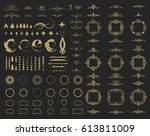 circle and square wicker... | Shutterstock .eps vector #613811009