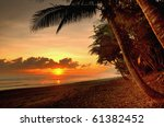 sunset in a virgin beach of... | Shutterstock . vector #61382452