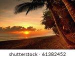 Sunset In A Virgin Beach Of...
