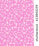 Pink Pattern With Small Palms