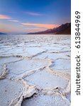 Small photo of Sunset in the Badwater, Death Valley, CA, USA