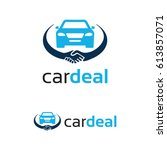 car deal logo template design | Shutterstock .eps vector #613857071