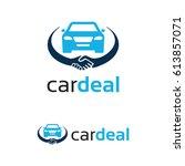 car deal logo template design | Shutterstock .eps vector #613857071