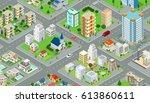flat isometric megalopolis... | Shutterstock .eps vector #613860611