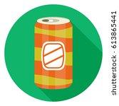 soda tin can icon | Shutterstock .eps vector #613865441