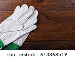 new and clean construction... | Shutterstock . vector #613868519