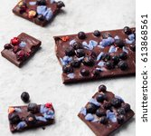 Chocolate Bar With Berries And...
