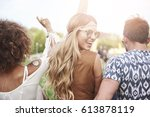 party people had not enough  | Shutterstock . vector #613878119
