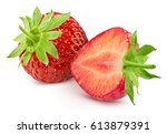 strawberry isolated on white... | Shutterstock . vector #613879391