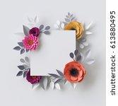 3d render  abstract paper... | Shutterstock . vector #613880495
