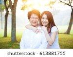 portrait of asian elderly...   Shutterstock . vector #613881755