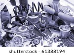 a lot of different auto spare...   Shutterstock . vector #61388194