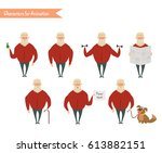grandfather character for... | Shutterstock .eps vector #613882151