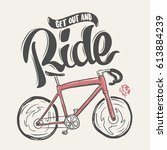 bicycle vintage lettering for... | Shutterstock .eps vector #613884239