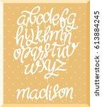 hend drawn alphabet set  vector ... | Shutterstock .eps vector #613884245