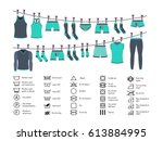 icons set of instructions for... | Shutterstock .eps vector #613884995