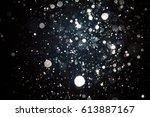 abstract blur black bokeh... | Shutterstock . vector #613887167
