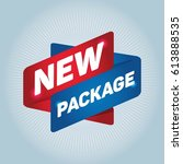 new package arrow tag sign. | Shutterstock .eps vector #613888535