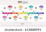 timeline infographics design... | Shutterstock .eps vector #613888991