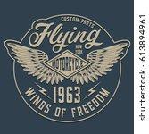 motorcycle typography  tee... | Shutterstock .eps vector #613894961