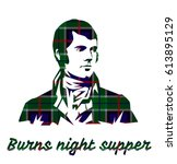 burns night supper card on...