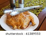 raw whole marinated chicken ... | Shutterstock . vector #61389553