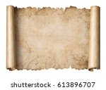 old treasure map scroll... | Shutterstock . vector #613896707