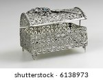 silver casket isolated on a...   Shutterstock . vector #6138973