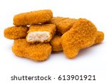 nugget chiken on the white... | Shutterstock . vector #613901921