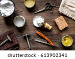tools for cutting beard in... | Shutterstock . vector #613902341