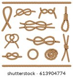 abstract nautical elements set. ... | Shutterstock .eps vector #613904774