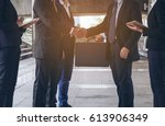 two business group of... | Shutterstock . vector #613906349